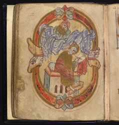 An Anglo-Saxon Portrait of St Luke, in an Irish Pocket Gospels